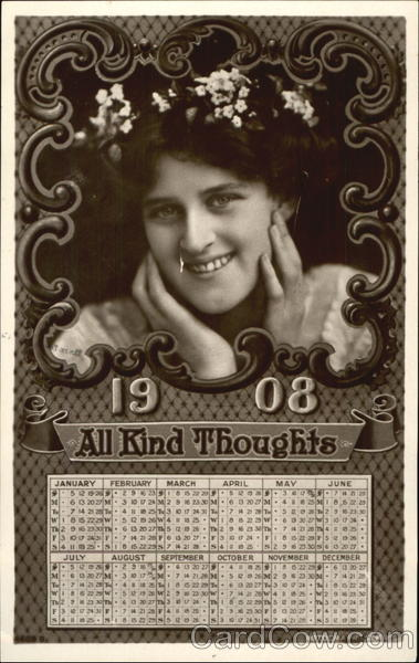 1908 All Kind Thoughts New Year's
