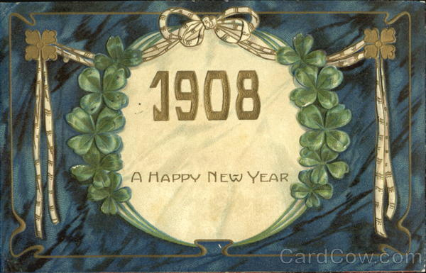 1908 A Happh New Year New Year's