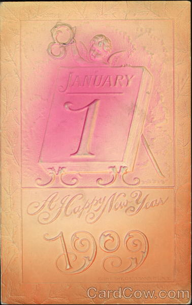 A Happy New Year 1909 Airbrushed