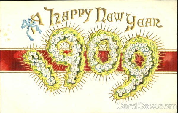 A Happy New Year 1909 Year Dates