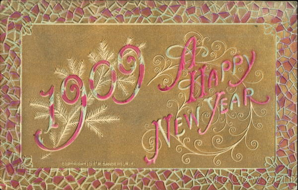 1909 A Happy New Year New Year's