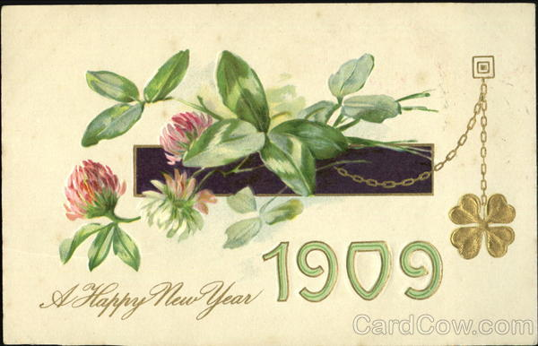 A Happy New Year 1909 New Year's