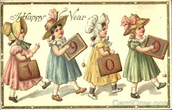A Happy New Year 1909 Children