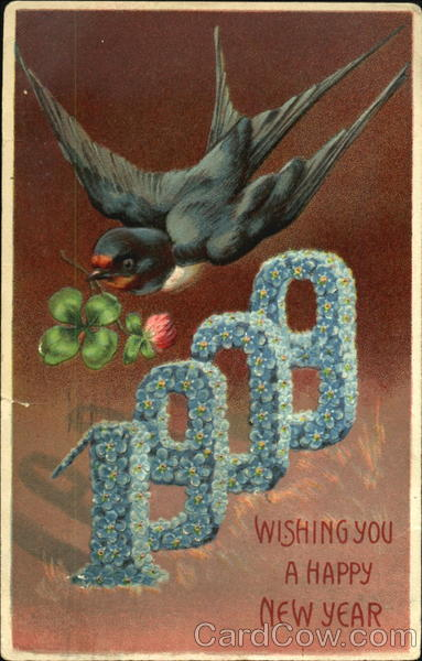 1909 Wishing You A Happy New Year New Year's