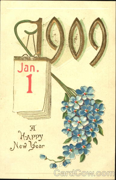 1909 Jan -01 A Happy New Year New Year's