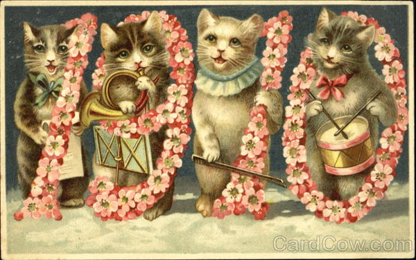 1910 Year Dates Cats