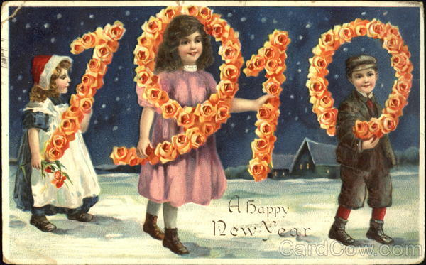 1910 A Happy New Year Children
