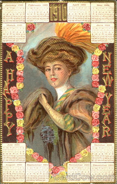 1910 A Happy New Year New Year's