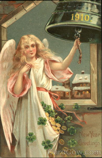 1910 New Year Greetings Angels & Cherubs