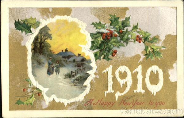 1910 A Happy New Year To You New Year's