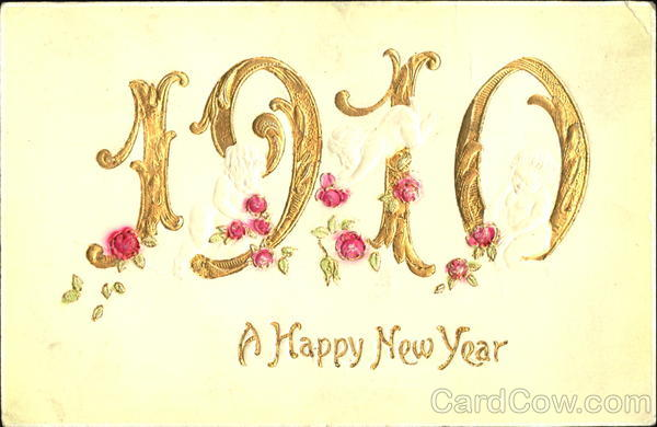 1910 A Happy New Year Year Dates