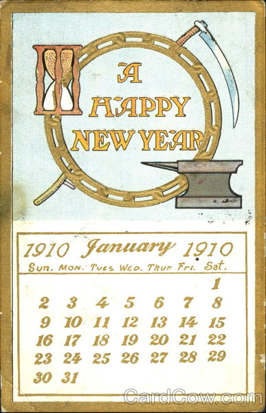 A Happy New Year 1910 New Year's