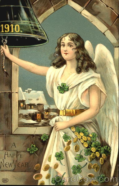 1910 A Happy New Year Angels & Cherubs