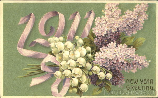 1911 New Year Greeting New Year's