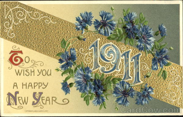 1911 To Wish You A Happy New Year New Year's