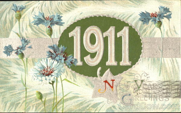 1911 New Year Greetings New Year's