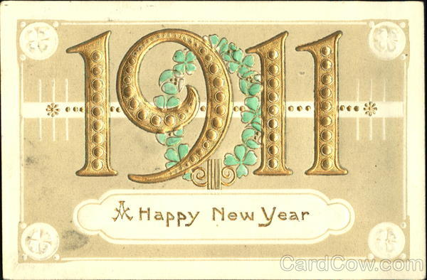 1911 A Happy New Year Year Dates