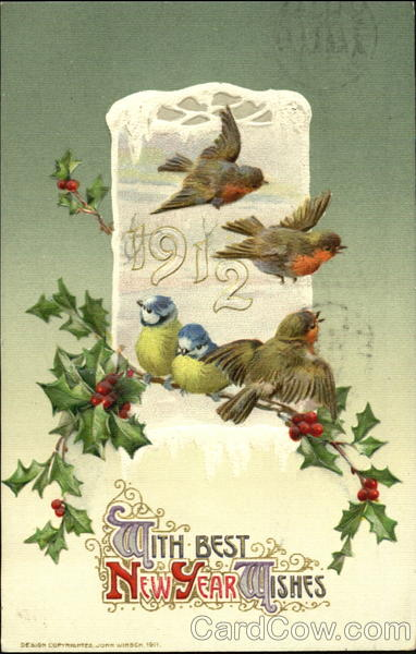 1912 With Best New Year Wishes