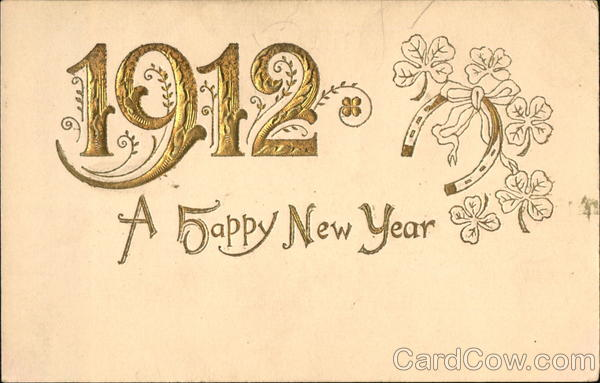1912 A Happy New Year New Year's