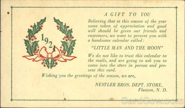 A Gift To You 1921 New Year's