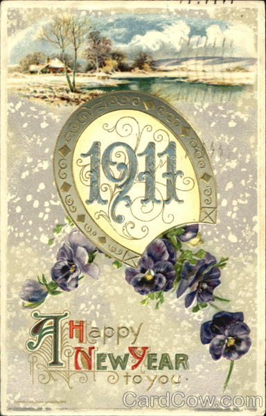 1911 A Happy New Year To You New Year's