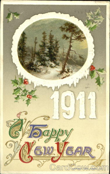 1911 A Happy New Year New Year's