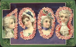 1908 Loving Wishes For The New Year