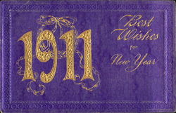 1911 Best Wishes For New Year