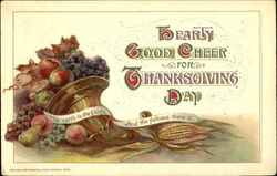 Hearty Good Cheer For Thanksgiving Day