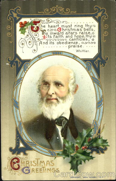 John Greenleaf Whittier Christmas Poems & Poets