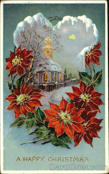 Pointsettias and a chapel Christmas