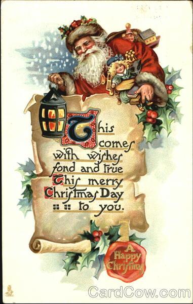 Santa Holding A Lantern Santa Claus
