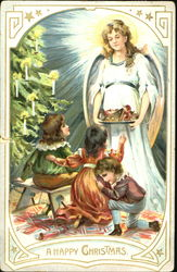 An Angel in White with three small children