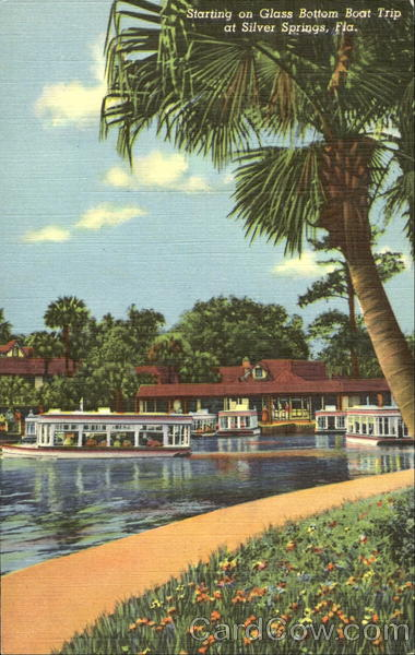Starting On Glass Bottom Boat Trip Silver Springs Florida