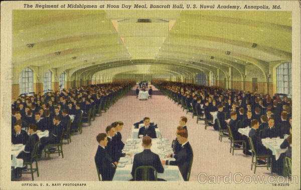 The Regiment Of Midshipmen At Noon Day Meal, U. S. Naval Academy Annapolis Maryland