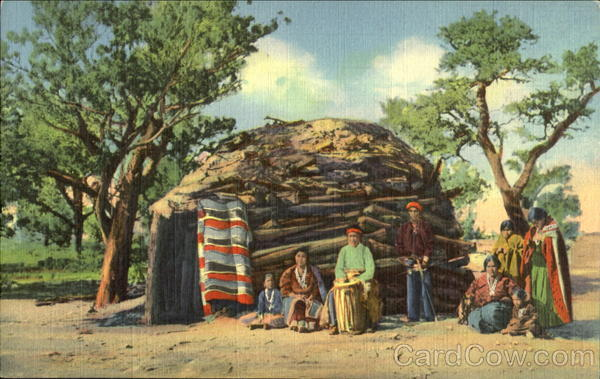 Navajo Indians On Reservation Native Americana