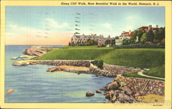 Along Cliff Walk Newport Rhode Island