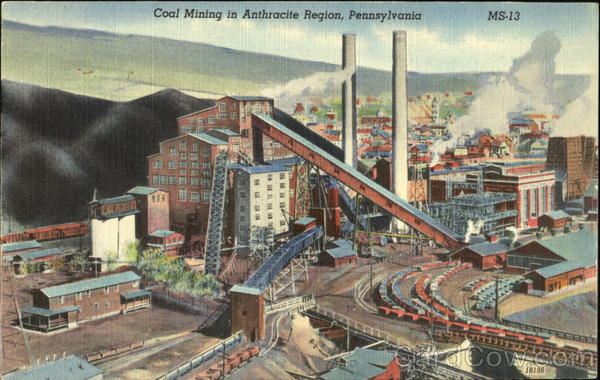 Coal Mining In Anthracite Region Pennsylvania