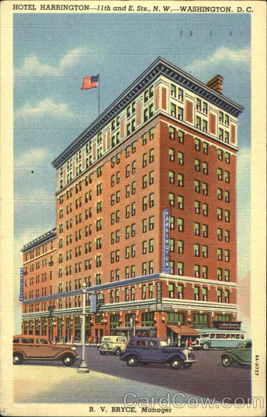 Hotel Harrington, 11th and E. Sts., N. W Washington District of Columbia