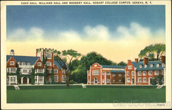 Coxe Hall Williams Hall And Medbery Hall, Hobart College Campus Geneva New York