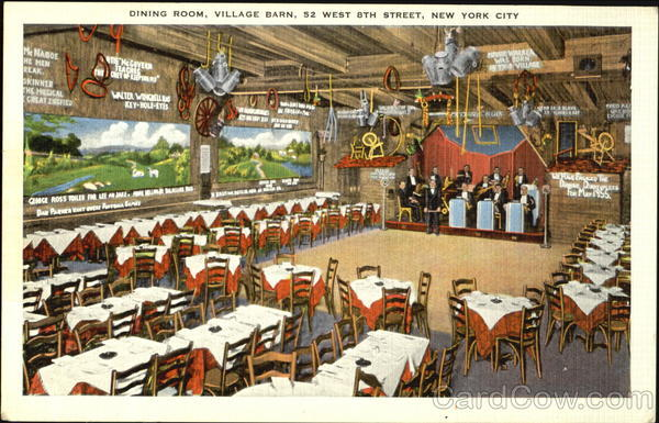 Dining Room Village Barn, 52 West 8th Street New York City