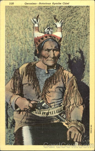 Geronimo Notorious Apache Chief Native Americana