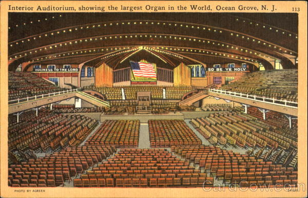 Interior Auditorium Ocean Grove New Jersey