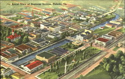 Aerial View Of Business Section Postcard
