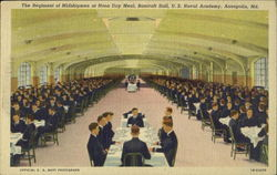 The Regiment Of Midshipmen At Noon Day Meal, U. S. Naval Academy