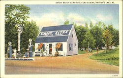 Sandy Beach Camp Sites And Cabins Postcard
