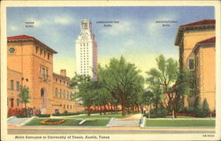 Main Entrance To University Of Texas