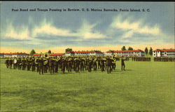 Post Band And Troops Passing In Review, U. S. Marine Barracks