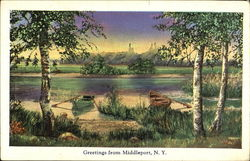 Greetings From Middleport Postcard
