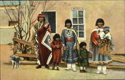 Indian Pueblo Family